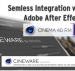 CINEWARE by MAXON & After Effects CS7.
